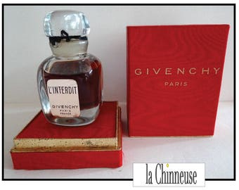 Vintage GIVENCHY perfume's prohibition / Vintage Givenchy perfume bottle / Collectible / Vintage perfume bottle / Vintage french perfume.
