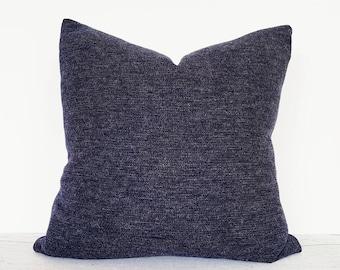 Textured Blue Pillows, Denim Blue Pillows, Navy Throw Pillows, Blue Accent Pillows, Winter Pillow Covers, Nordic, Knit Texture,  20x20