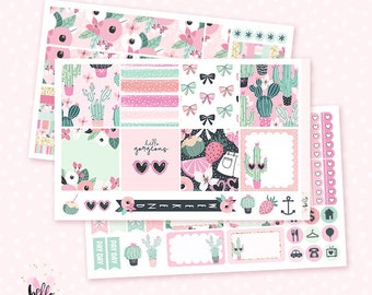 Prickly Pink HORIZONTAL - 3 page kit for the Horizontal Erin Condren planner