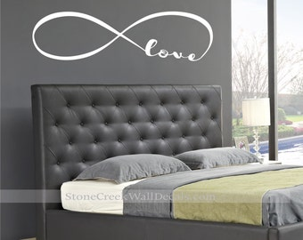 Infinity Wall Decal  Love Infinity Family Wall Decal  Family Infinity Wall Decal Family Home Decor Decals  Vinyl Lettering Forever Symbol