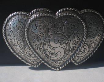 Women's Heart Belt Buckle Leather Belt Free