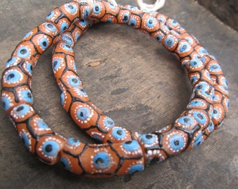 African recycled glass beads, 11 powdered beads