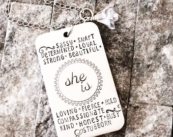 Gifts for her / Girl Boss Necklace