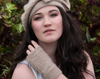 PDF knitting pattern - So Boho hat and gloves