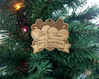 Newlywed Ornament,Personalized Ornament,Custom Ornament,Couples Ornament,Keepsake Ornament,Just Married,Annivesary,Wedding Gift,Mr and Mrs