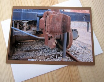Rusty Train Blank Greeting Card Photography
