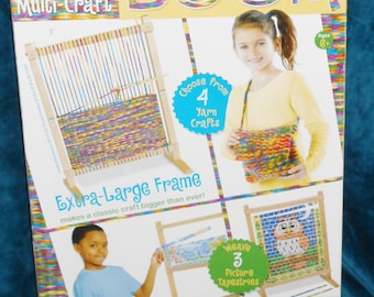 Basic Weaving or Tapestry Loom With Everything Included To Start Teaching Yourself The Art Of Weaving