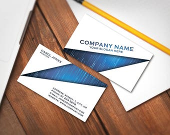 Editable Business Card Template, Premade Printable Business Card Design, Custom Business Card, Digital Download (Carol collection 05)