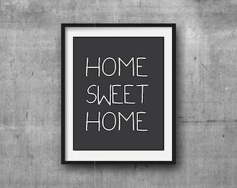 Home Sweet Home 2 Digital Prints, Pink Wall Art, Graphic Print, Digital Print,