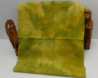 Golden Pear Green Hand Dyed Wool for Rug Hooking and Wool Applique