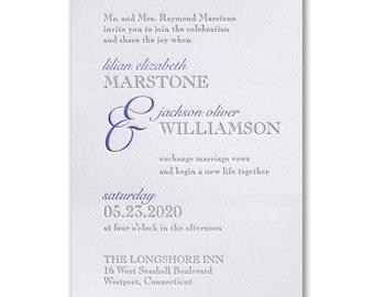 Contemporary Style Letterpress Invitation