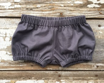 Baby Bloomer Shorts. Gray Diaper Cover. Baby Bloomers.  Grey Kids Shorts. Baby Bloomers Boy. Bloomers for Babies Boy. Toddler Shorts Girl