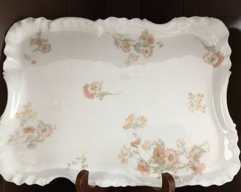 HAVILAND & CO, LIMOGES Floral Serving Platter, Circa: late 1800.s