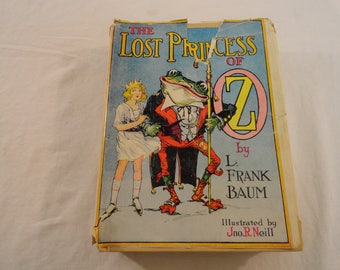 1917 First Edition Frank Baum The Lost Princess Of Oz Illustrated By JNO R. Neill