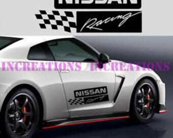 Nissan Nismo Powered Stripes Decal Sticker Car Truck Racing Sport Car Set of 2