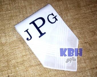 Embroidered Handkerchief for Men / Monogrammed Handkerchief