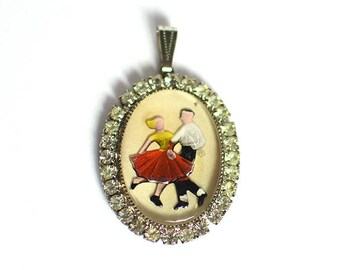 1950's Vintage Necklace Pendant