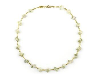 Cube Necklace with Harmony Jasper-Helena-Green