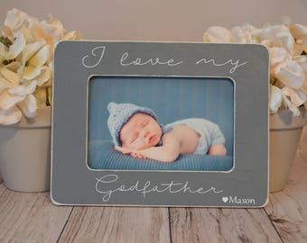 4x6 Godfather picture frame, gift for Godfather, custom picture frame,father's day gift, personalized picture frame, Godfather gift