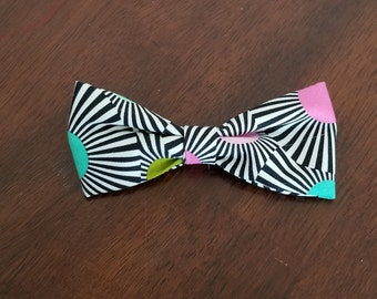 Optical Illusion Clip-On Bow Tie