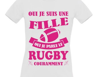 White t-shirt short sleeve 100% cotton B & C woman Rugby