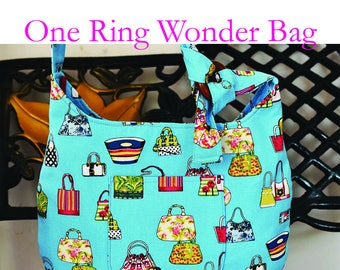 One Ring Wonder Bag Pattern | PDF Sewing Pattern | Bag Sewing Pattern |