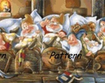 Princess Snow White and Seven Dwarfs #8. Cross Stitch Pattern. PDF Files.