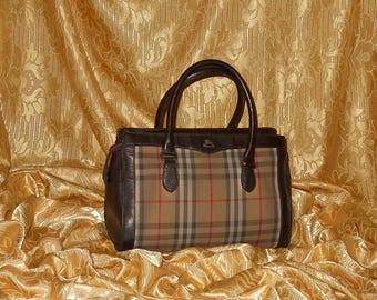 Genuine vintage Burberrys bag - fabric and genuine leather