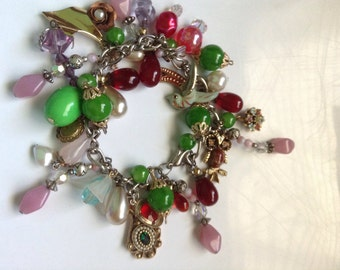Vintage handmade charm bracelet