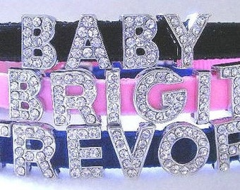 Slide Letter Rhinestone Dog Collar - Color Choice! Personalized!