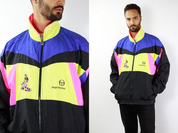 Vintage Windbreaker Jacket Vintage Track jacket Sergio Tacchini Jacket 90s Windbreaker 90s Track jacket Vintage Shell Jacket Nylon Jacket