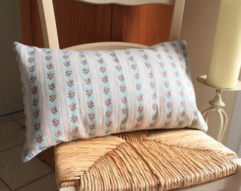Removable pillow form vintage floral pattern bolster