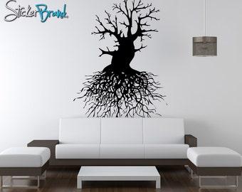 Vinyl Wall Decal Sticker Tree Roots OSAA111m