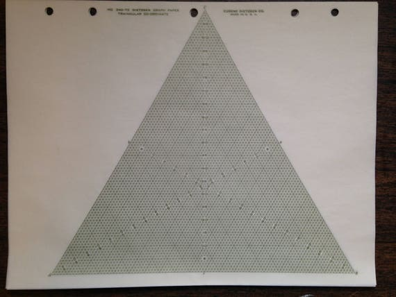 Trilinear Triangular Coordinate Graph Paper Two Varieties From