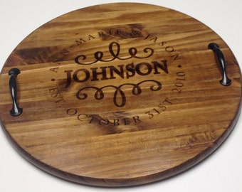 handmade personalized serving tray etsy
