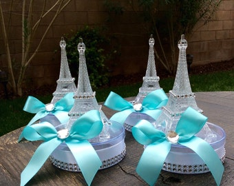 6 Eiffel Tower party favors or small centerpiece-eiffel tower party favor-eiffel tower ballon holder- paris wedding-paris baby shower-paris
