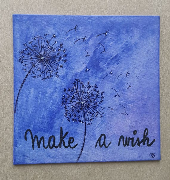 Canevas 'Make a wish'