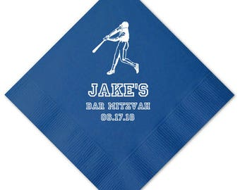 100 Personalized Napkins Personalized Bar Mitzvah Judaica Custom Printed Beverage Cocktail Luncheon Dinner & Guest Towels Available