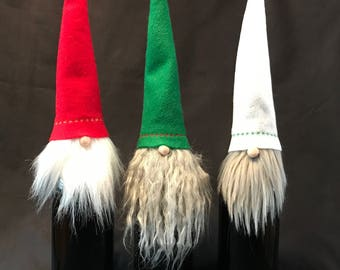 3 Christmas Gnome bottle toppers!