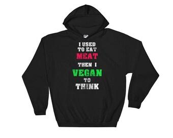 Vegan Hoodie Vegetarian Hoodie hoody Christmas Birthday gift Hooded Sweatshirt