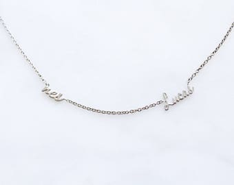 Silver/Gold-Plated Two Name Necklace