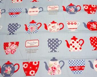 1 meter Tea cup theme Japanese Fabric nc42
