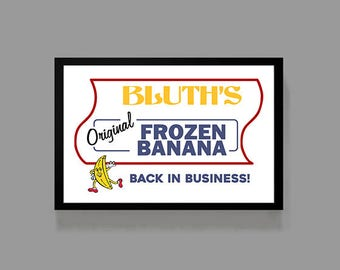 Arrested Development TV Show Poster - Bluth Banana Stand Print - Cult Classic, Comedy, TV, Funny, Quirky, Fun, Sitcom