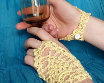 Summer Lace Fingerless Gloves - PDF Crochet Pattern - Instant Download