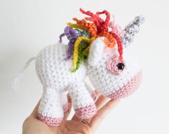 Amigurumi Unicorn : Amigurumi crochet cute unicorn pattern aurora the unicorn