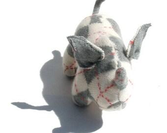 An Argyle Lambswool Angora Rhinoceros
