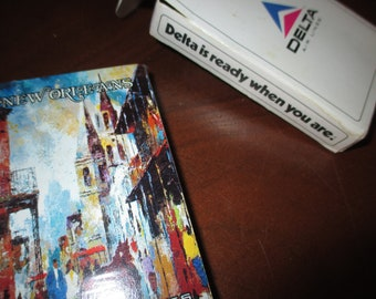 Vintage Delta Air Lines New Orleans souvenir playing cards new unopened in box