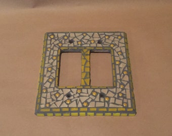 Mosaic Double Toggle Light Switch Cover