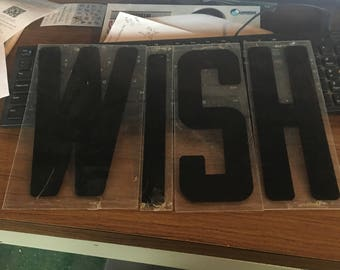 Wish 10 inch letters marquee black