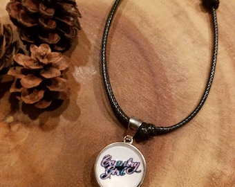 """Adjustable anklet / bracelet with """"country girl"""" pink camo snap..shooting hunting jewelry"""